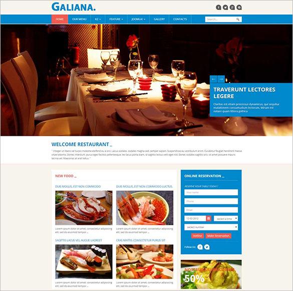 galiana joomla restaurant template