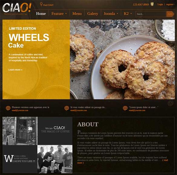 best joomla restaurant template