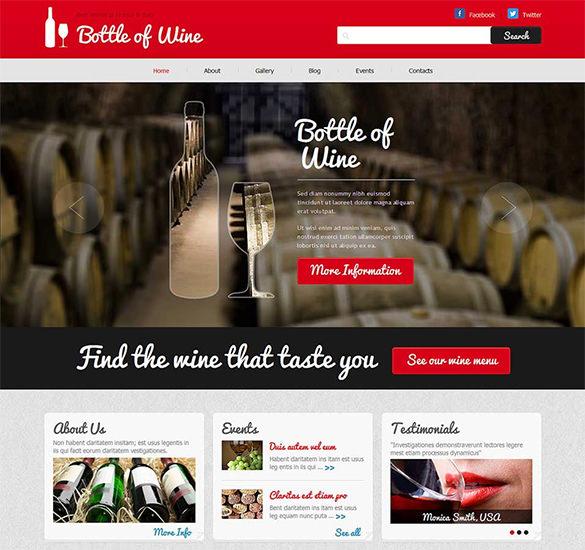 wine responsive joomla template1