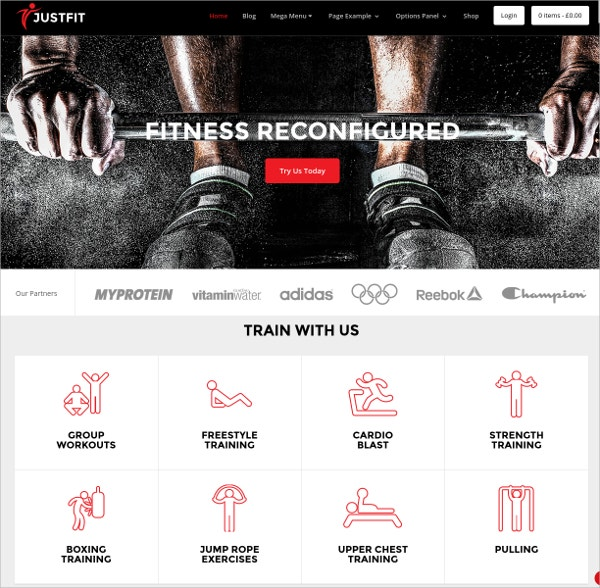 Fitness, Exercise And Health WordPress Theme $59