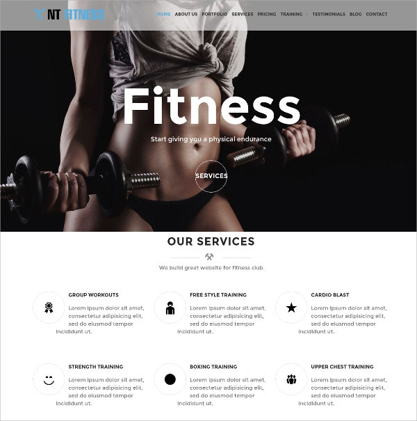 Fashion Fitness WordPress Theme $19