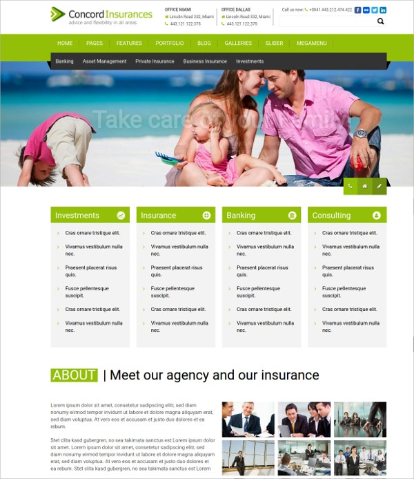 Financial Services Agency Website Theme $69
