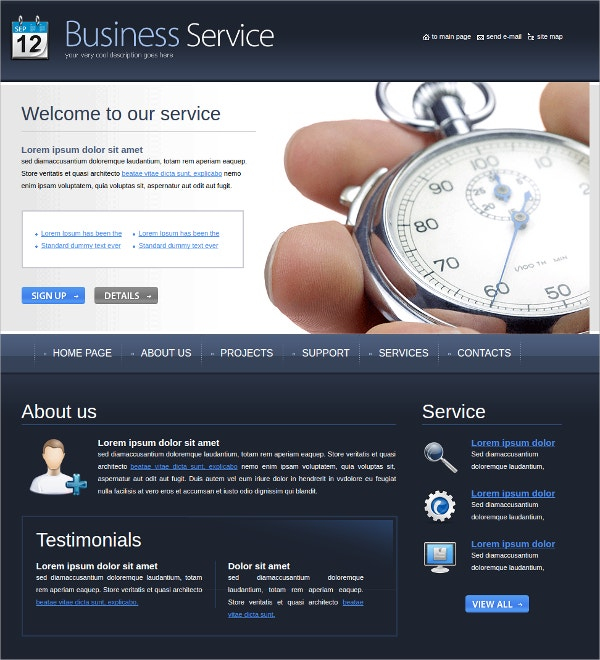 business corporate financial investment website theme