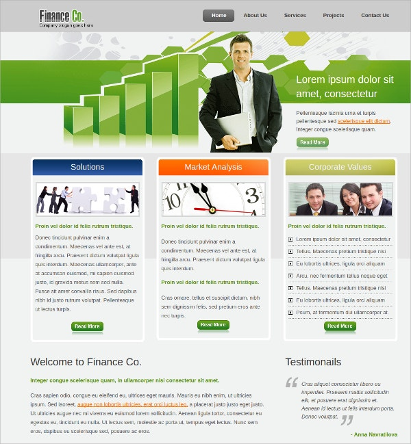 Financial Marketing Website Theme