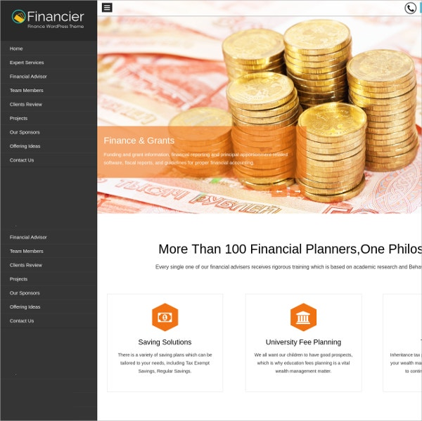 Law Firm, Financial Business Consultant Website Theme $79
