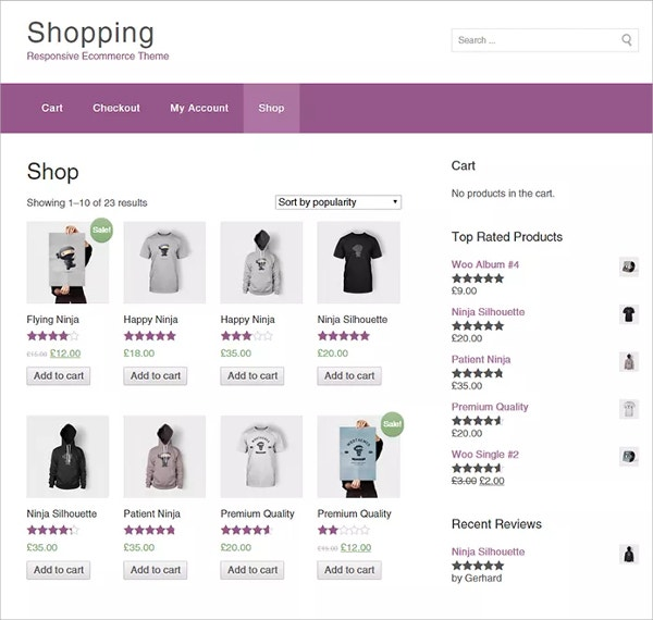 free wordpress online store website theme