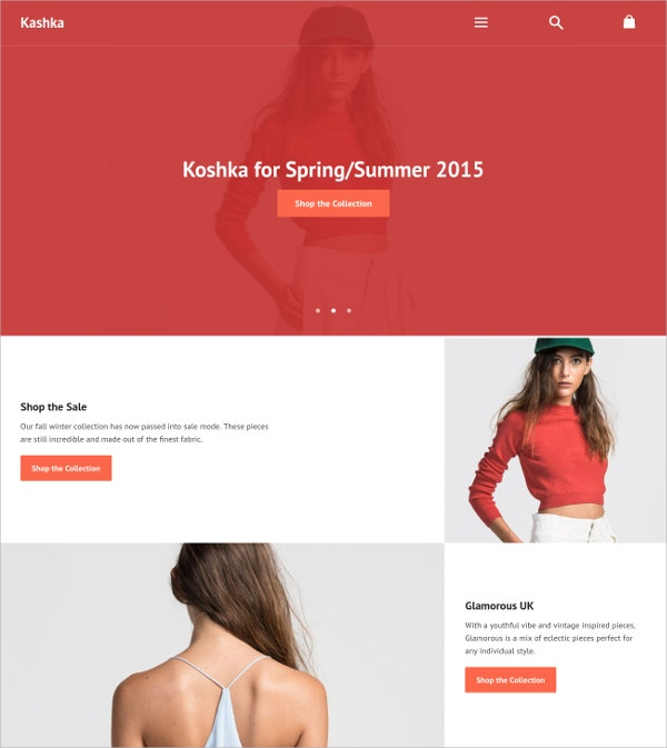 Perfect Online Store Website Theme $160