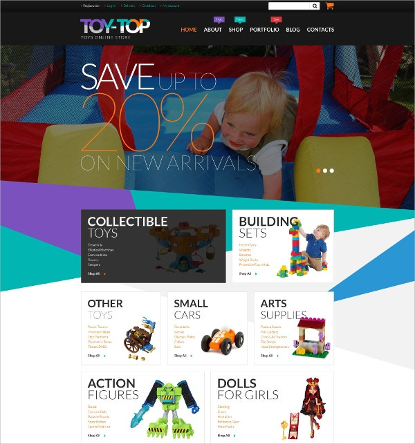 free toys online store woocommerce website theme