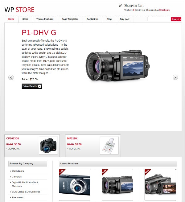 professional online store wp website theme