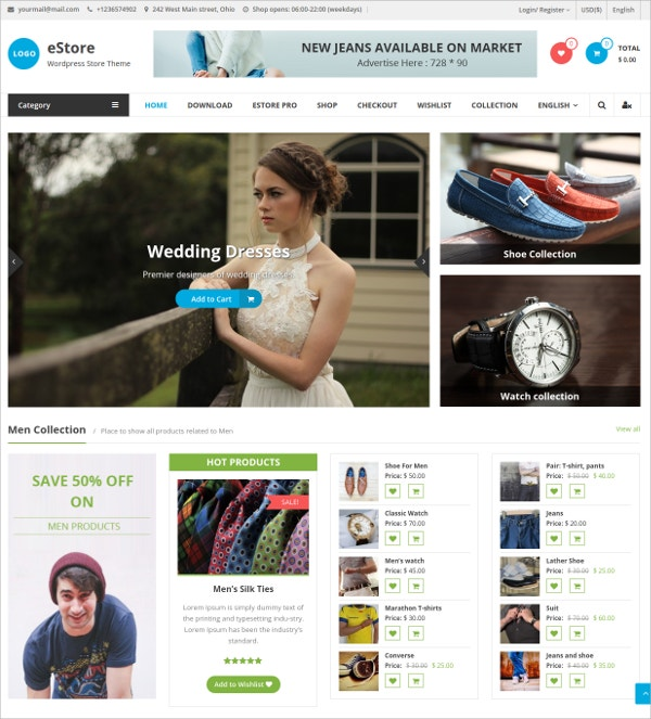 Awesome nline Store WooCommerce Website Theme