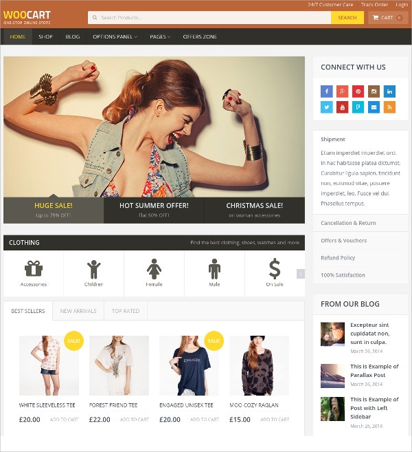 Premium Online Store Website Theme $59