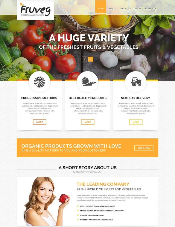 the best organic products joomla template2