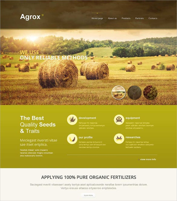 Free Agriculture Website Templates Amp Themes Free
