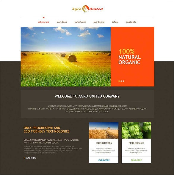 agriculture to impress wordpress theme2