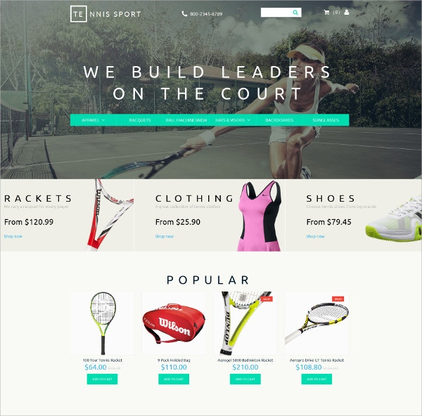 Responsive Sports Clothes Shop Website Template $199