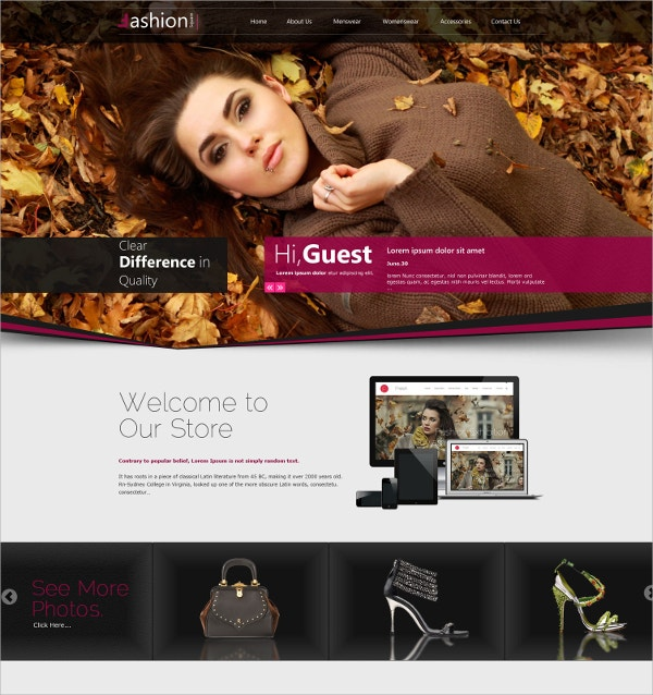 Makeup Shop Responsive WordPress Website Theme $59