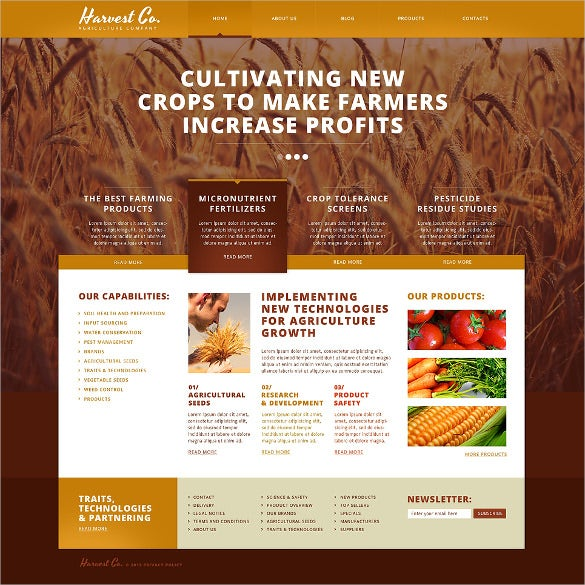 agriculture responsive website template1
