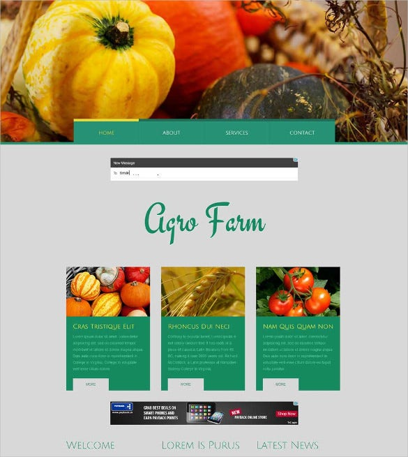 agro farm an agricultural website template