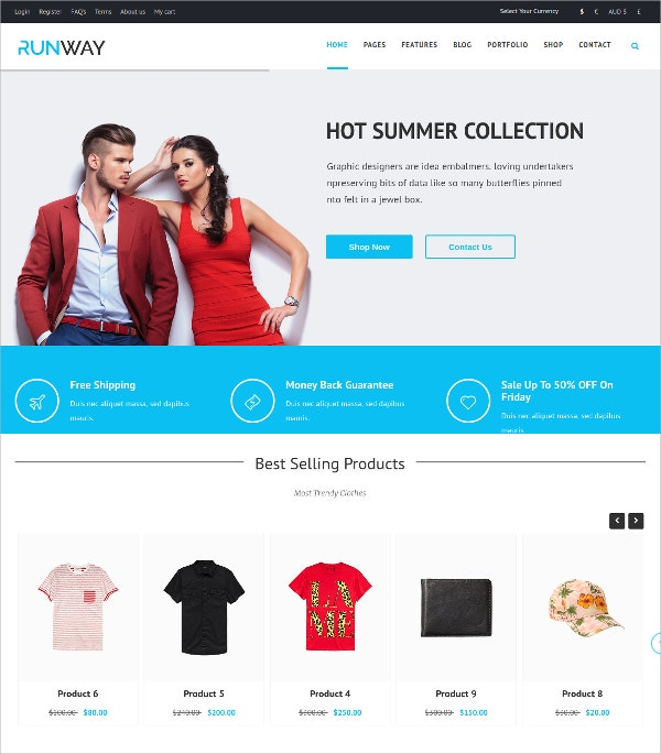 Responsive Shop Portfolio Joomla Website Template $48