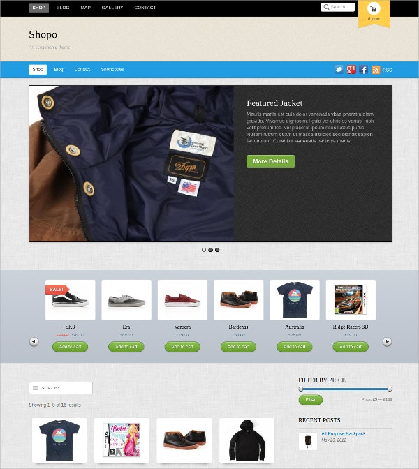 Design Responsive Shop Website Theme