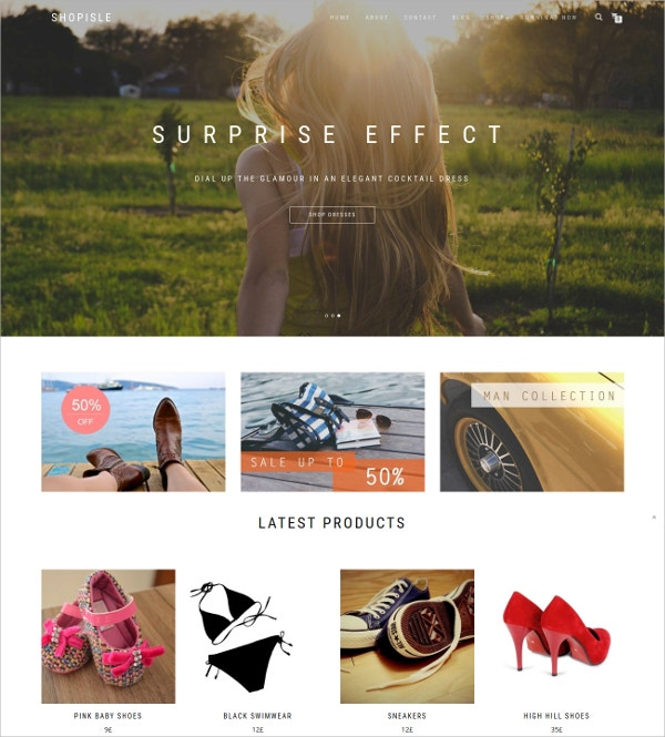 Free WordPress Responsive Shop Ecommerce Website Theme