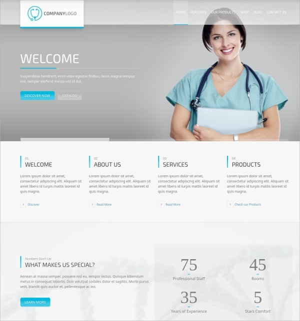 Medical Product Catalog WordPress Theme $59