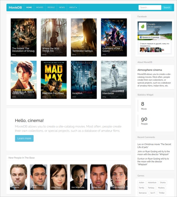 Catalog Movies WordPress Theme $49