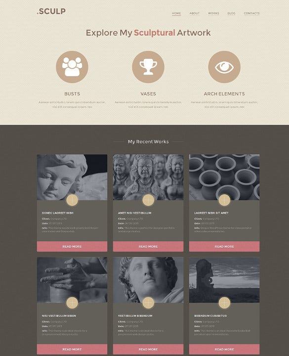 responsive sculpture wordpress template