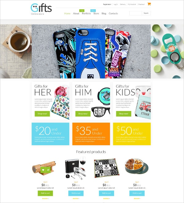 Online Gifts Shop WooCommerce Website Theme $114