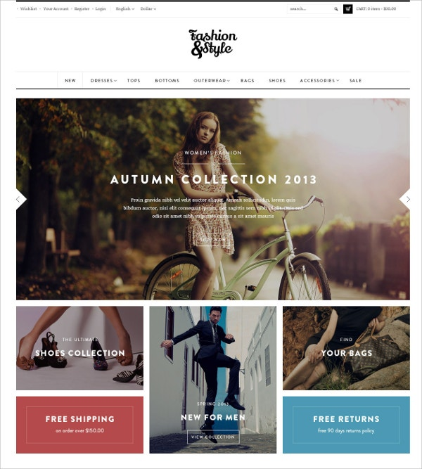 WooCommerce Fashio Gift Shop WordPress Website Theme $59