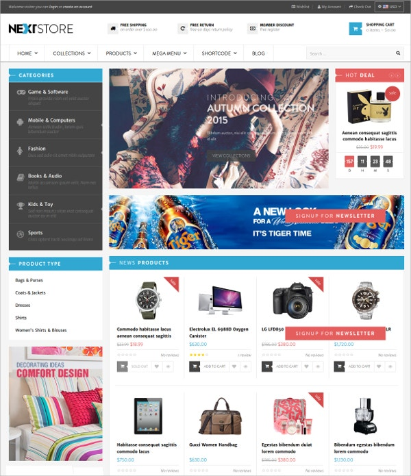 cosmetic gifts shop responsive website theme 56