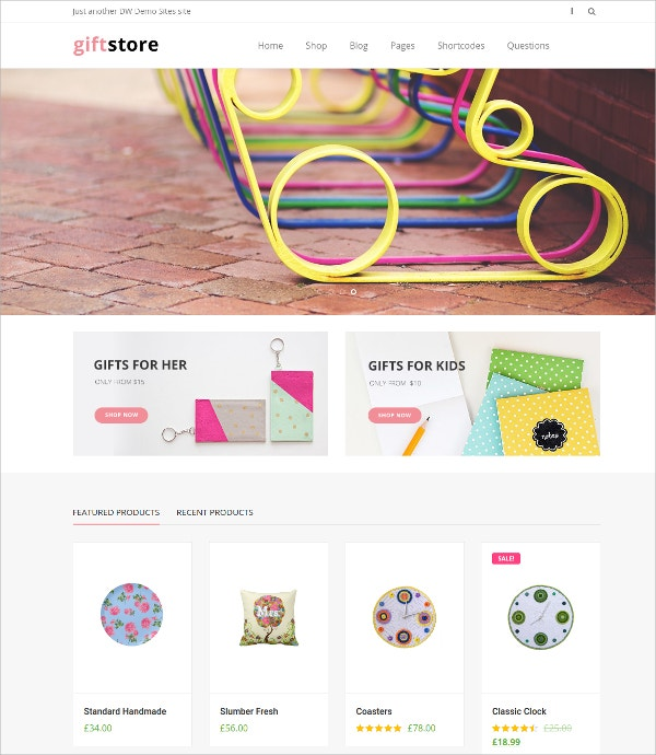 Flower Gifts Shop WP eCommerce Website Theme $29