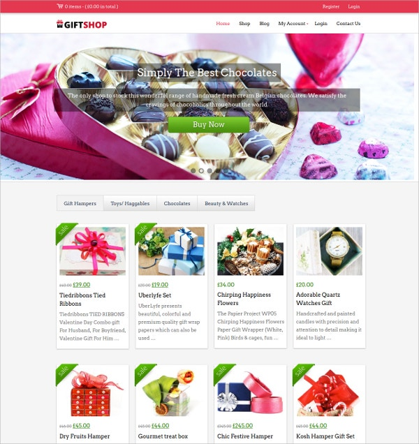 Premium Gift Store WP Website Theme $79