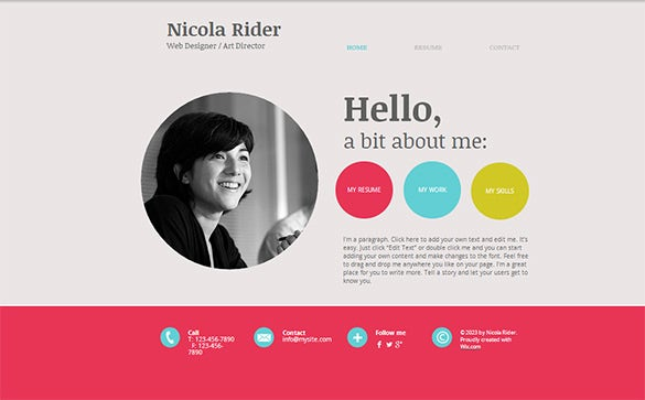 The Nicola Rider Writer Website Template Is A Simple And Beautiful Looking Website  Template For Writers That Uses A Minimalistic Approach In Its Design And ...