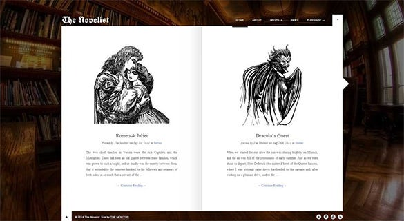 the novelist responsive wp theme for writers