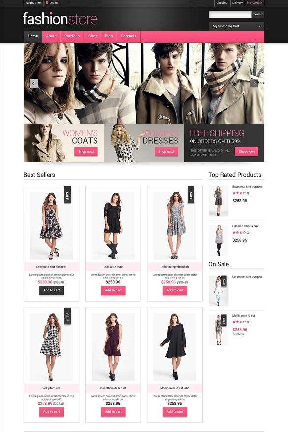 Clothe Store Website Templates Themes Free Premium Free - Commercial invoice template word free top 10 women's online clothing stores