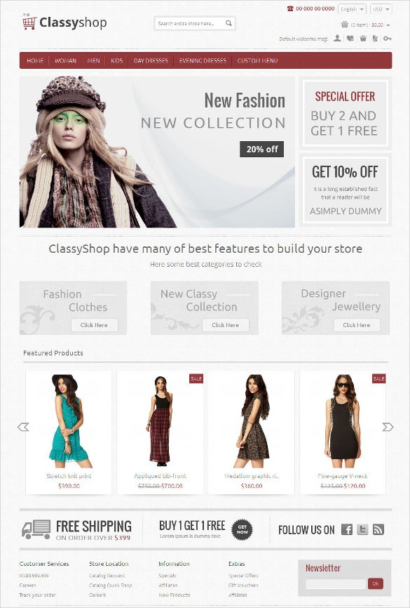 trendy clothe store magento responsive template