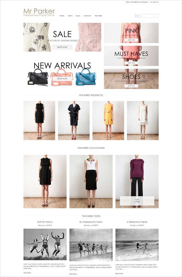 responsive new arrivals clothe store template