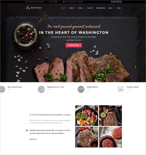 Tasty Food Restaurant WordPress Blog Theme $53