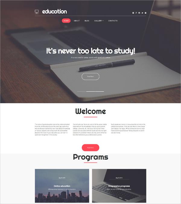Online Education WordPress Blog Theme $53