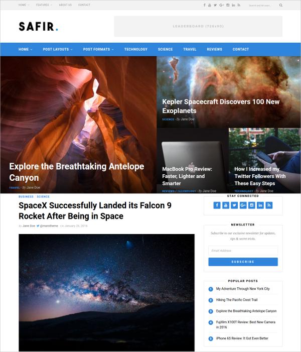 Magazine & News WordPress Blog Theme $44