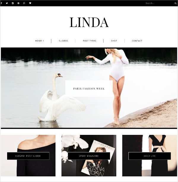 Stylish Responsive WordPress Blog Theme $39
