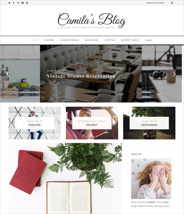 Travel WordPress Blog Theme $39