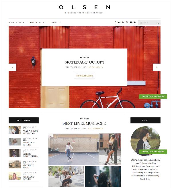 Stunning Lifestyle WordPress Blog Theme