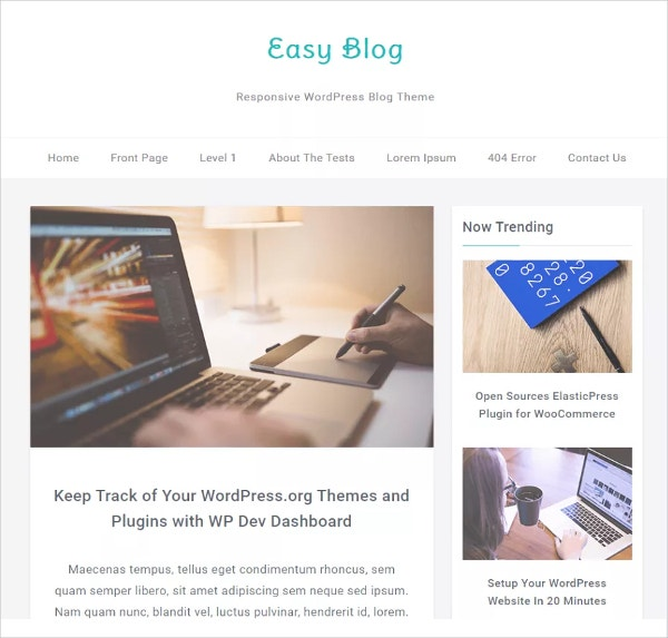 Free Responsive WordPress Blog Theme