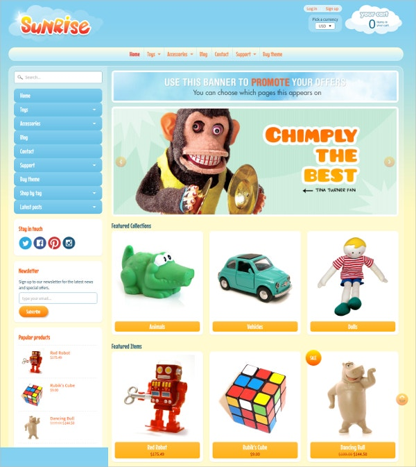 Kids Gaming Shopify Theme $160