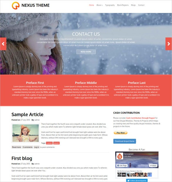 free nexus multi purpose drupal theme