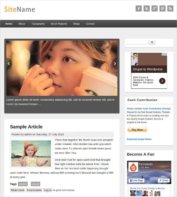 responsive blog drupal theme