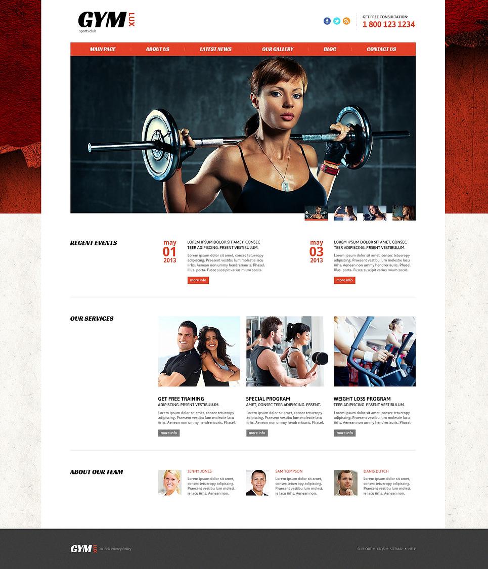 Premium Gym and Fitness Website Templates Free   Premium Templates l7qUdHKC