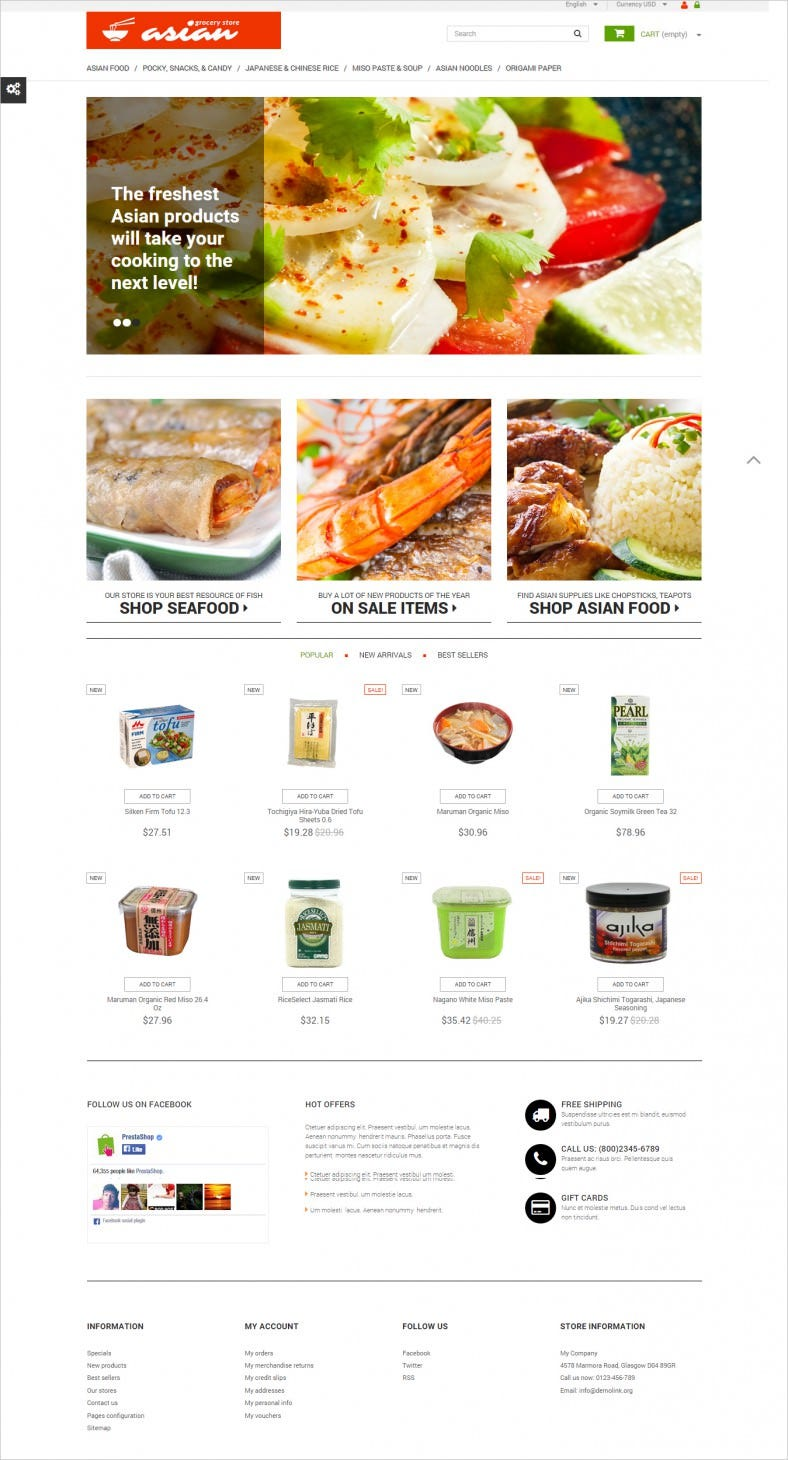 Asian Grocery PrestaShop Theme